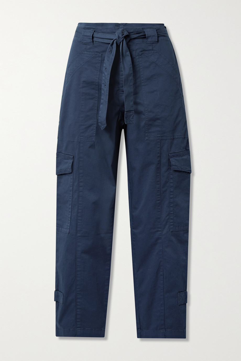Alex Mill Expedition belted washed stretch-cotton slim-leg pants