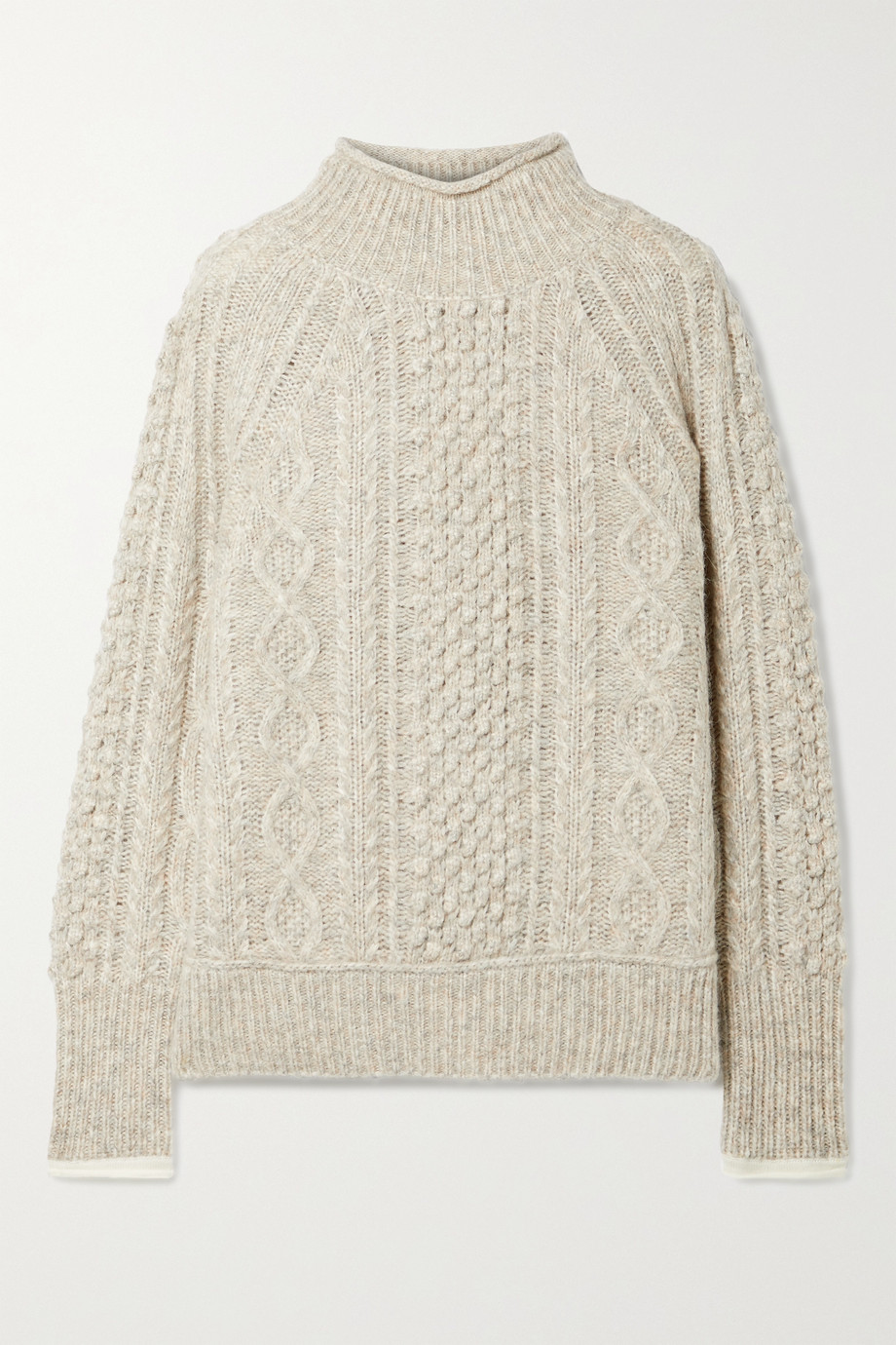 Alex Mill Camil cable-knit mélange wool-blend sweater
