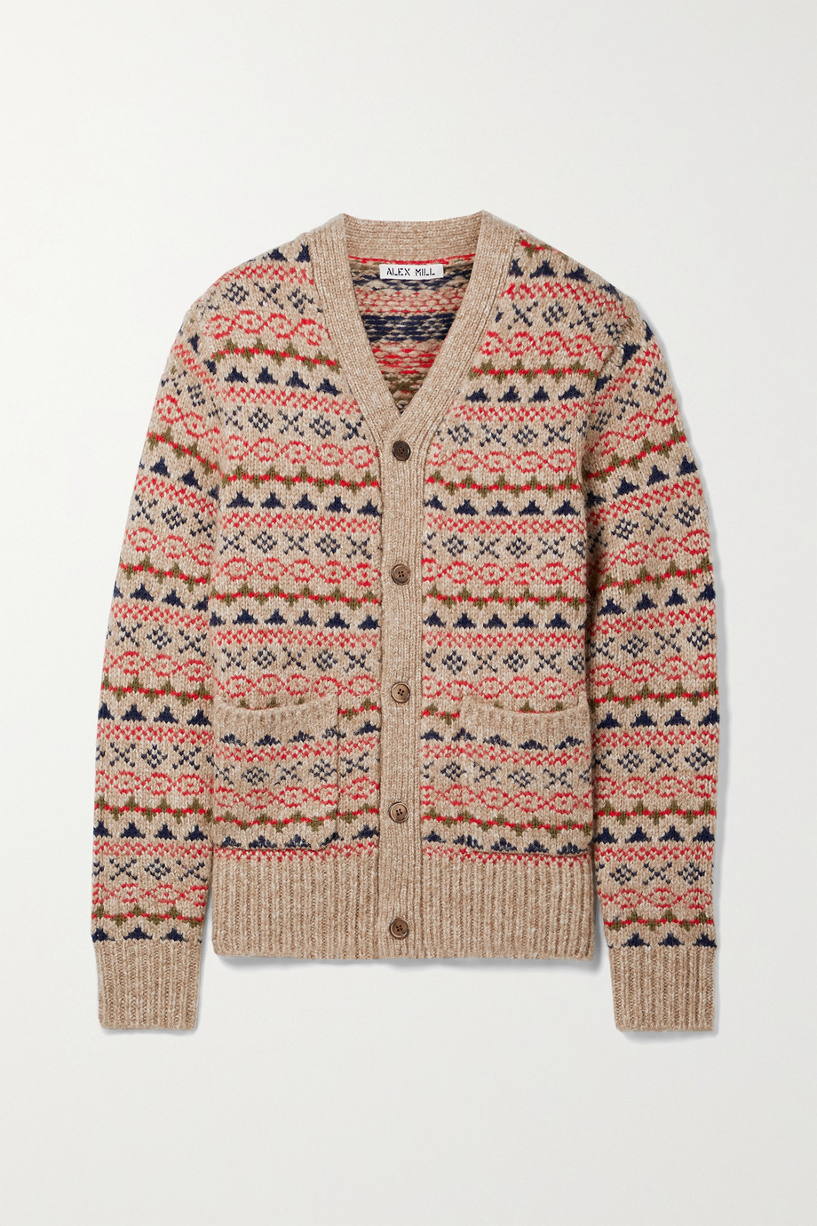 Alex Mill Fair Isle knitted cardigan