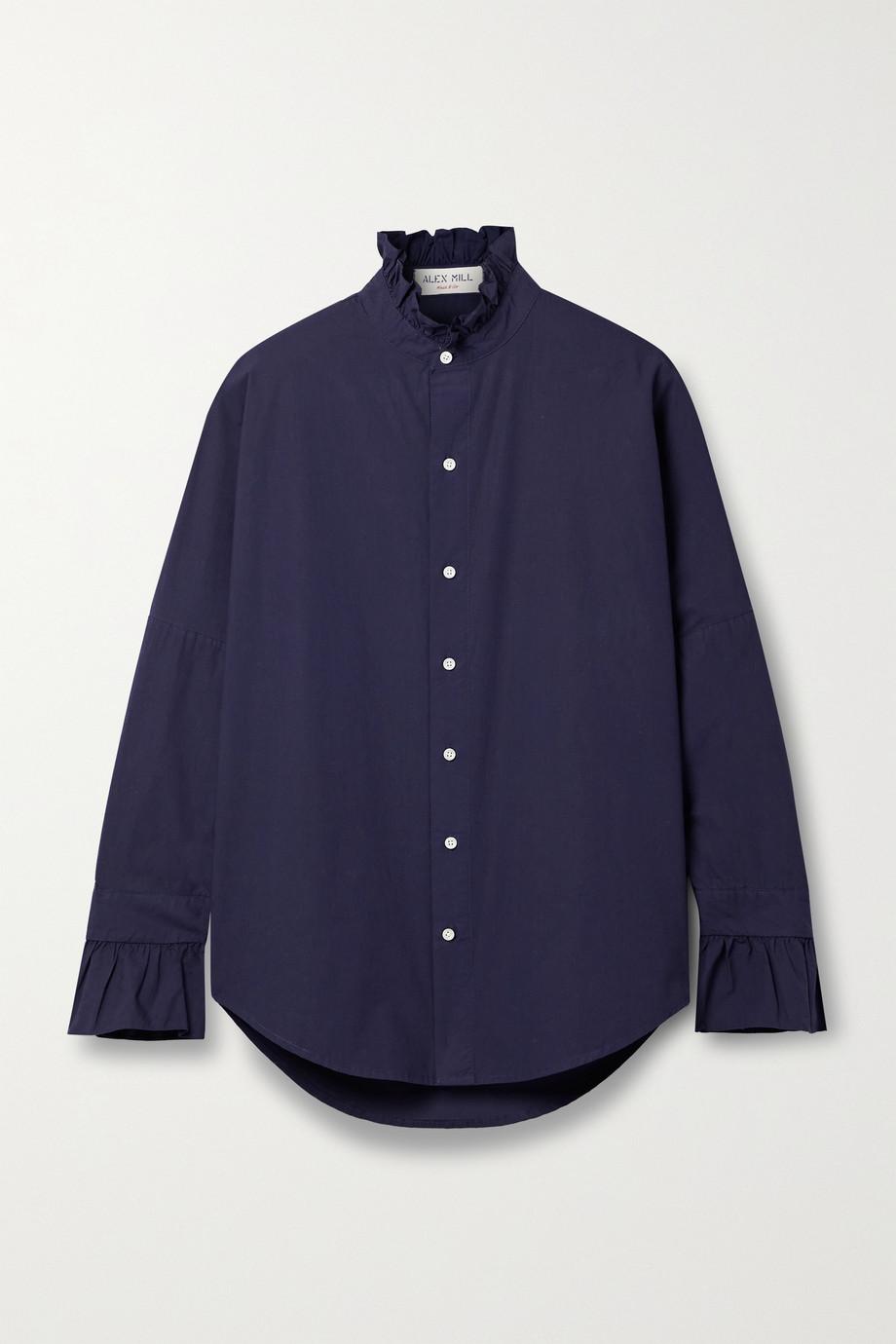 Alex Mill Hemd aus Baumwollpopeline mit Rüschen