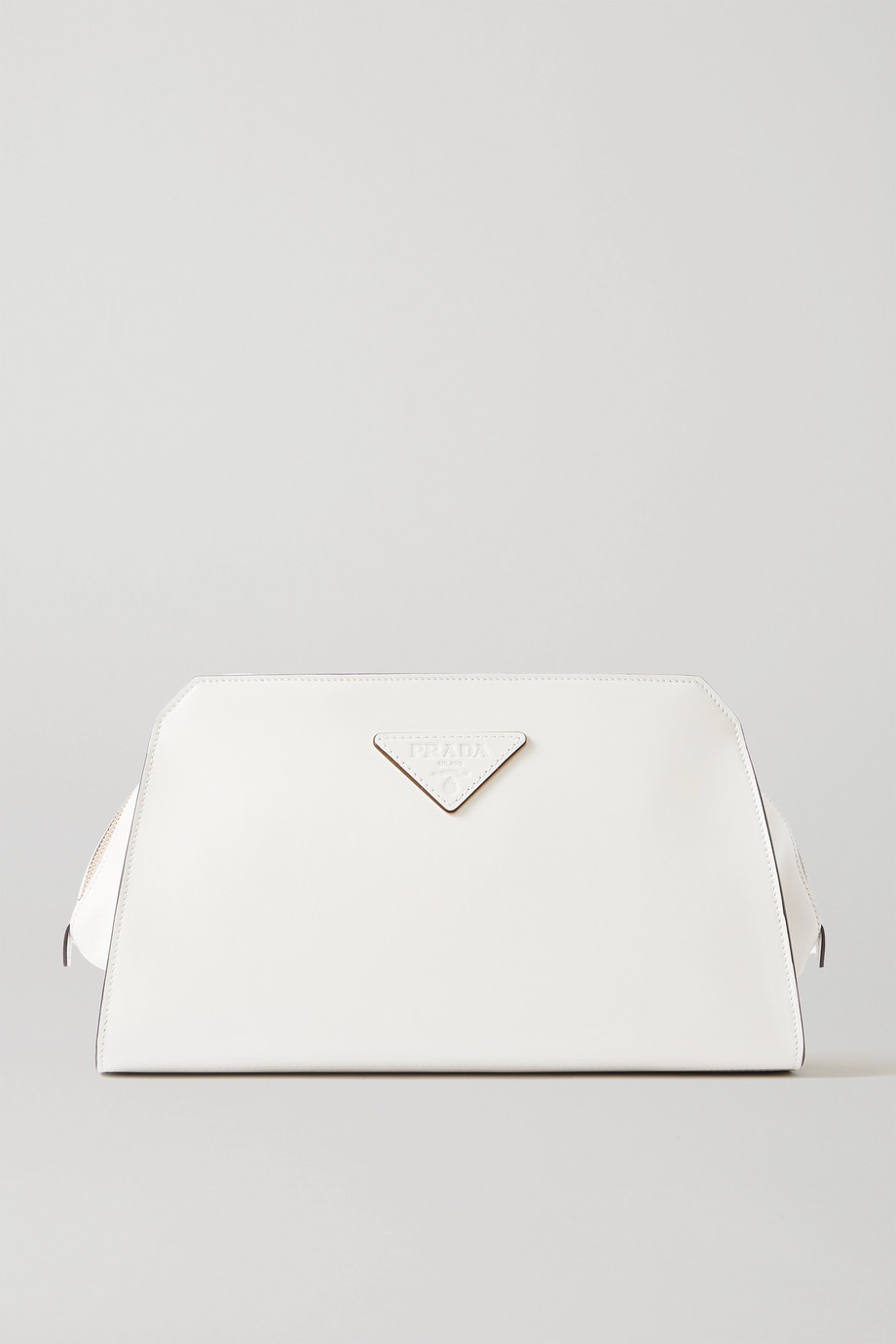 Prada Pelletteria medium appliquéd leather clutch