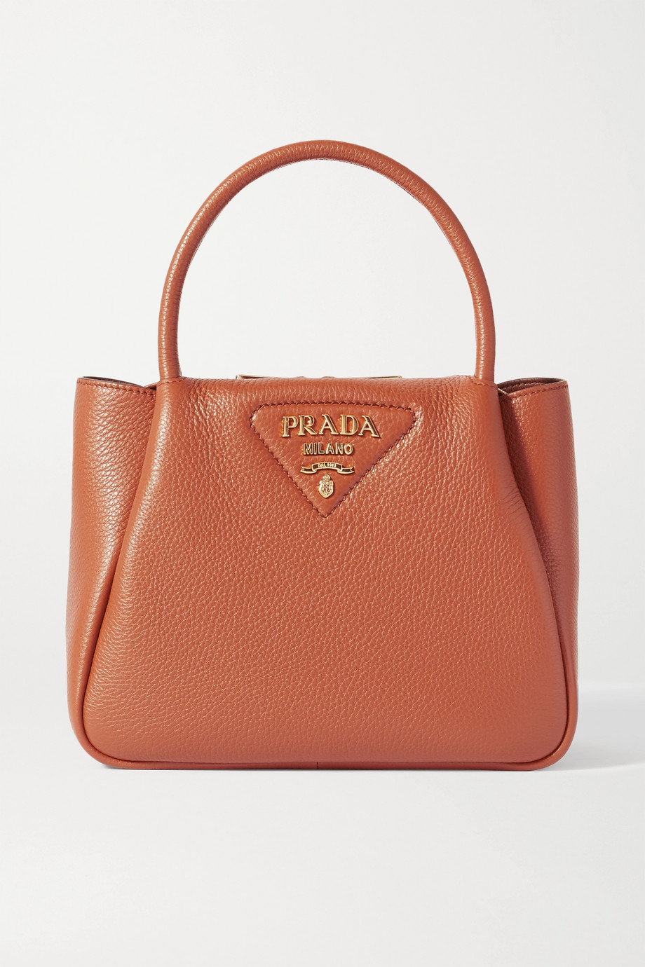 Prada Small textured-leather tote