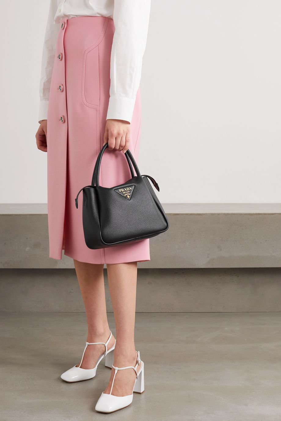 Prada Sacca small textured-leather tote