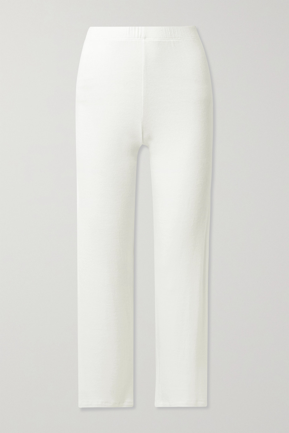 LESET Lori brushed stretch-jersey wide-leg pants