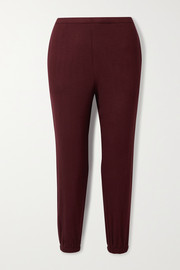 LESET Lori brushed stretch-jersey track pants