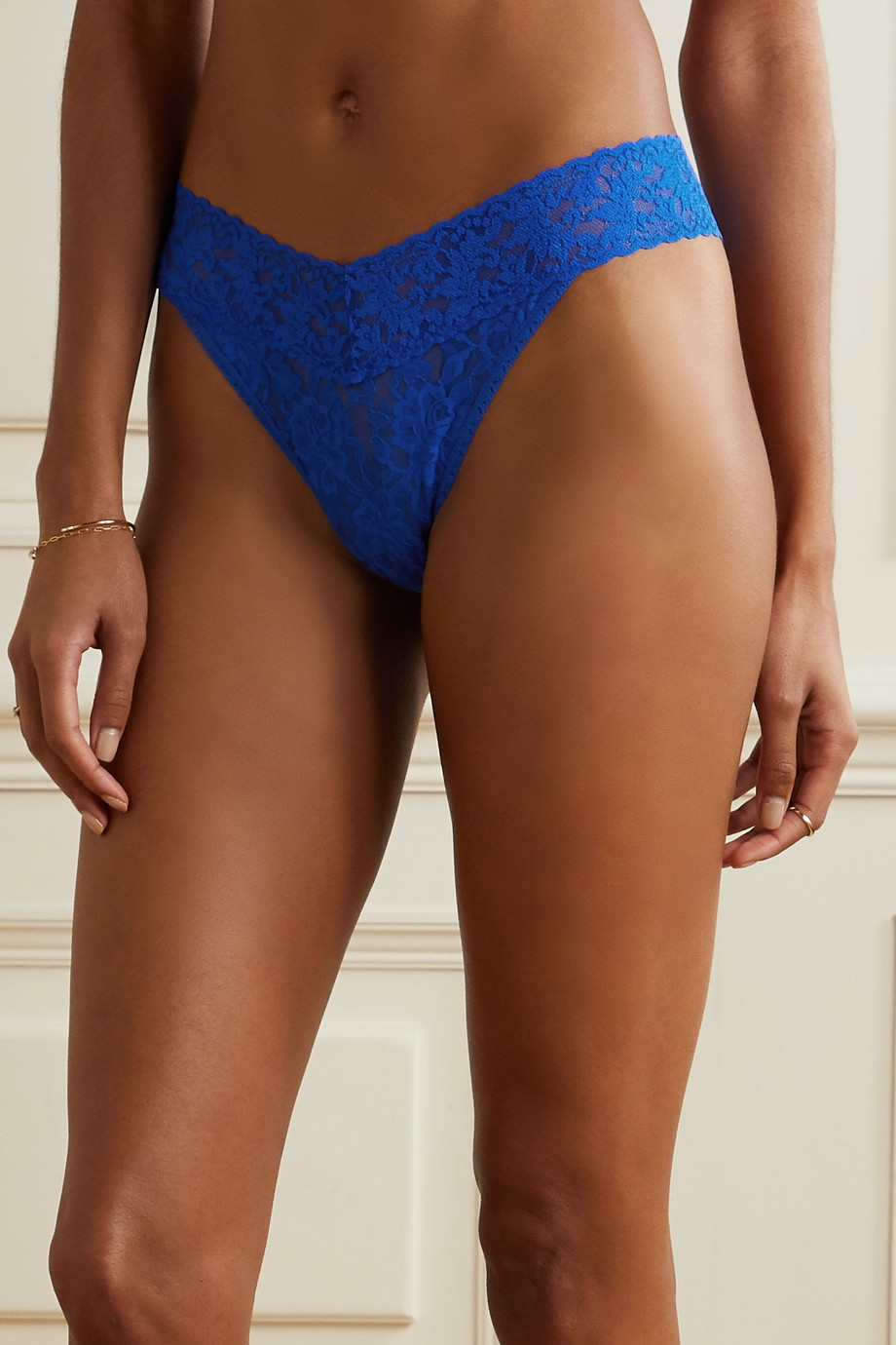 Hanky Panky Signature set of five low-rise stretch-lace thongs