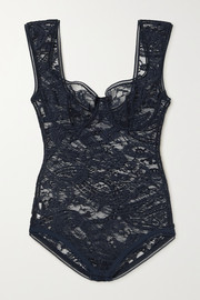 Eres Vetiver stretch-lace underwired bodysuit