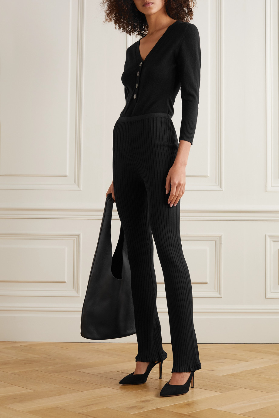 Eres Virtual wool and cashmere-blend bodysuit