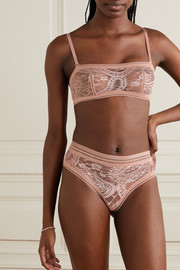 Eres Kashmir Mousson stretch-lace bandeau bra