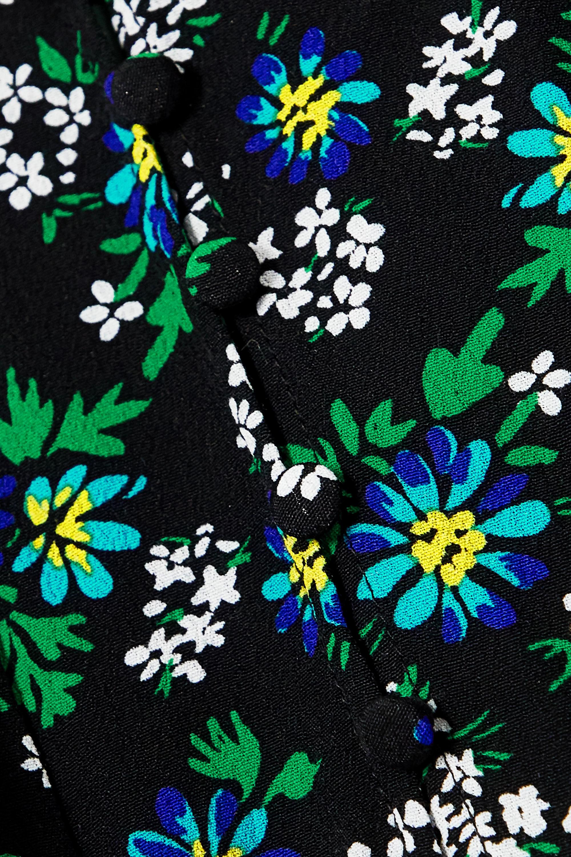 RIXO Ada lace-trimmed floral-print crepe midi dress