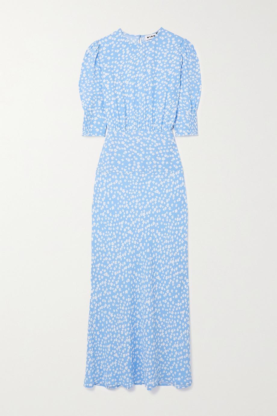 RIXO Lucile Kleid aus Crêpe mit Blumenprint