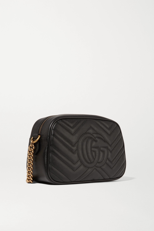 Gucci Sac porté épaule en cuir matelassé GG Marmont Camera Small