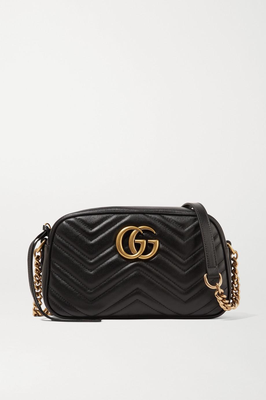 Gucci GG Marmont Camera 绗缝皮革小号单肩包
