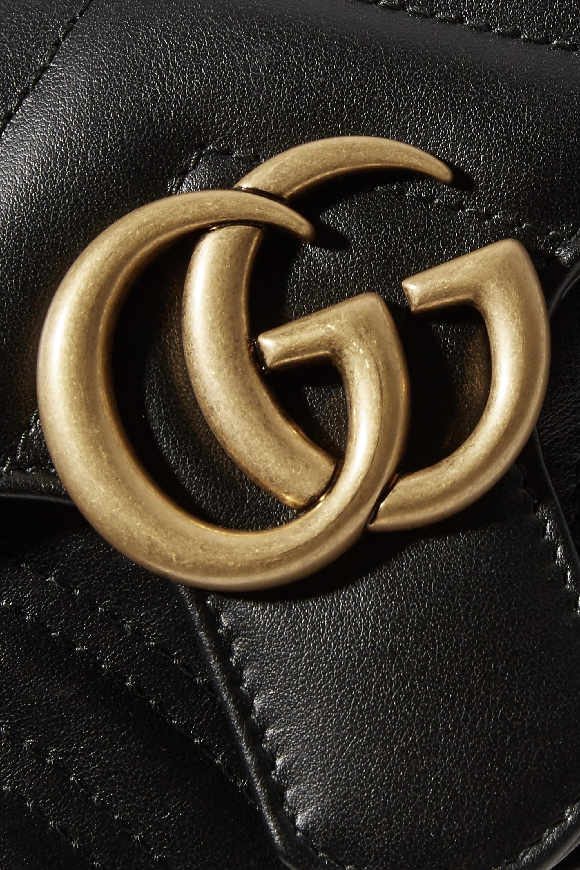 Gucci GG Marmont Schultertasche aus gestepptem Leder