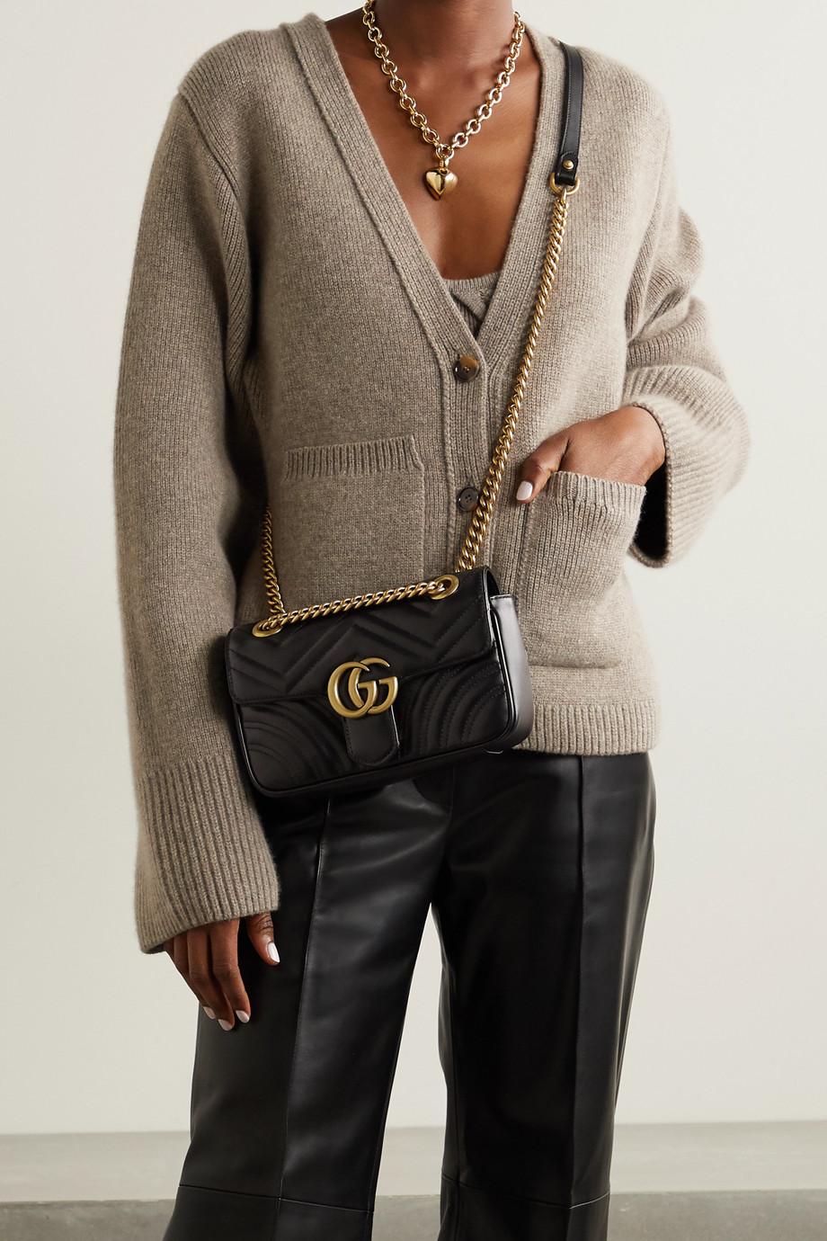 Gucci GG Marmont 绗缝皮革单肩包