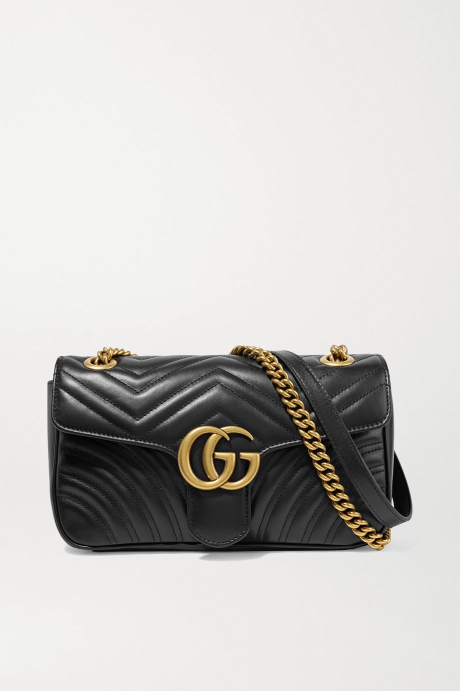 Gucci Sac porté épaule en cuir matelassé GG Marmont Small