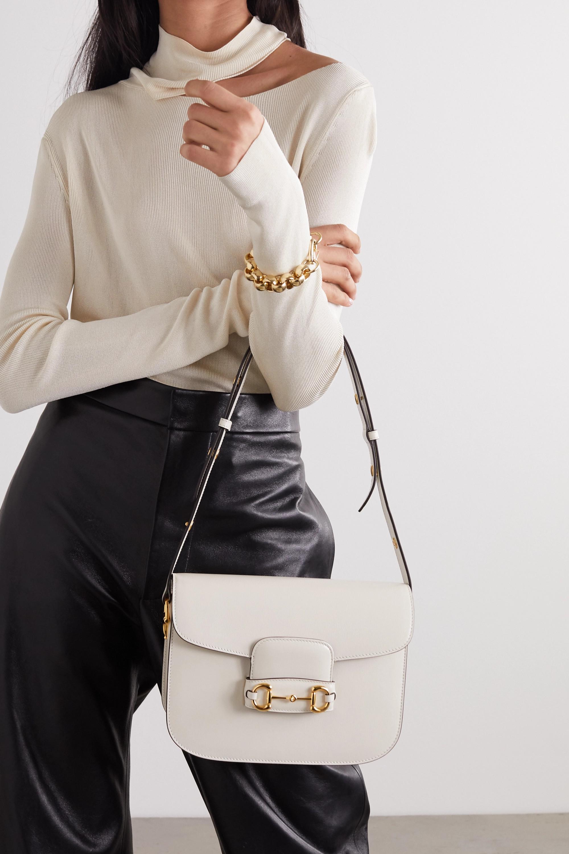 Gucci 1955 medium horsebit-detailed textured-leather shoulder bag