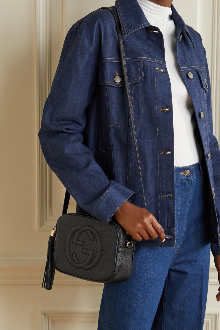 Gucci Soho Disco Schultertasche aus strukturiertem Leder
