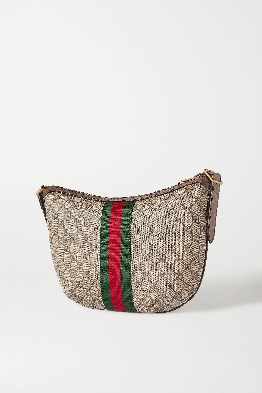 Gucci Ophidia Schultertasche aus beschichtetem Canvas mit Print und Besätzen aus strukturiertem Leder