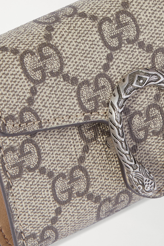 Gucci Dionysus super mini Tote aus Leder und beschichtetem Canvas mit Print