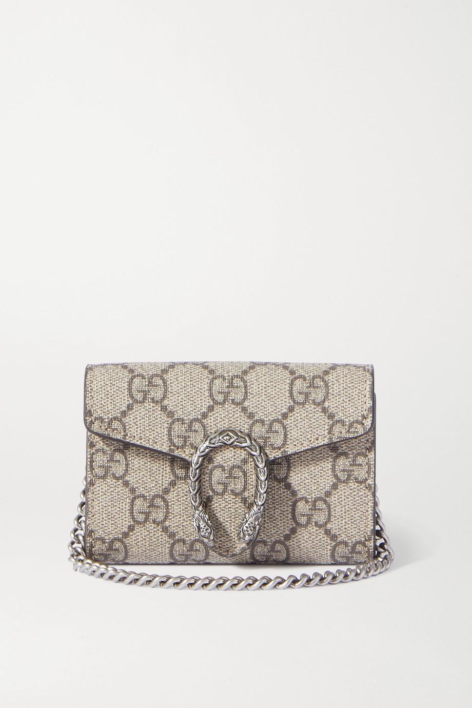 Gucci Sac porté épaule en toile enduite imprimée et en cuir Dionysus Super Mini