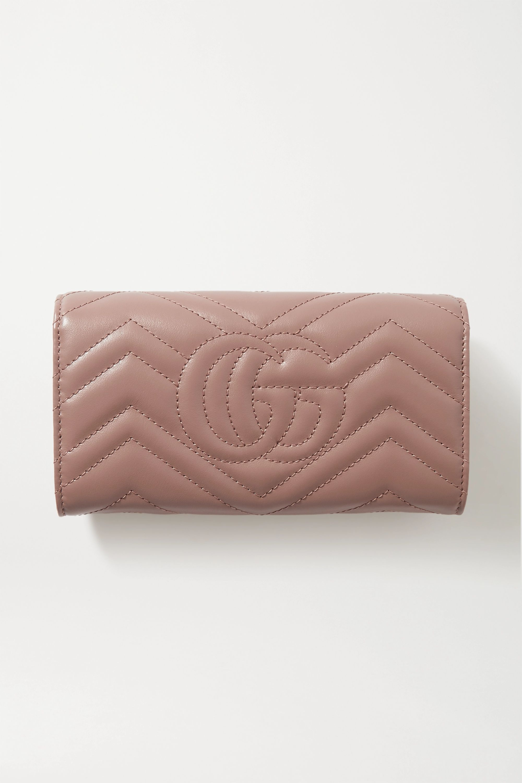 Gucci GG Marmont Portemonnaie aus gestepptem Leder
