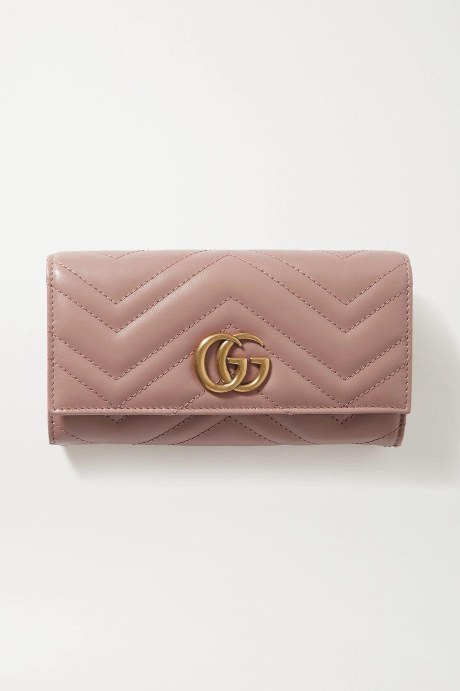 Gucci Portefeuille en cuir matelassé GG Marmont