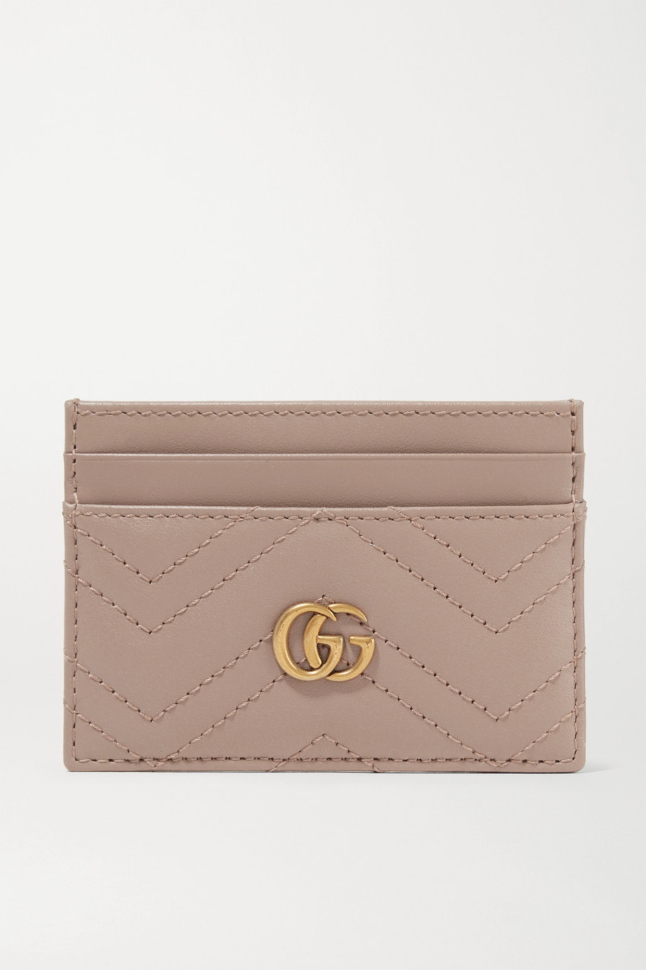 Gucci GG Marmont 绗缝皮革卡夹