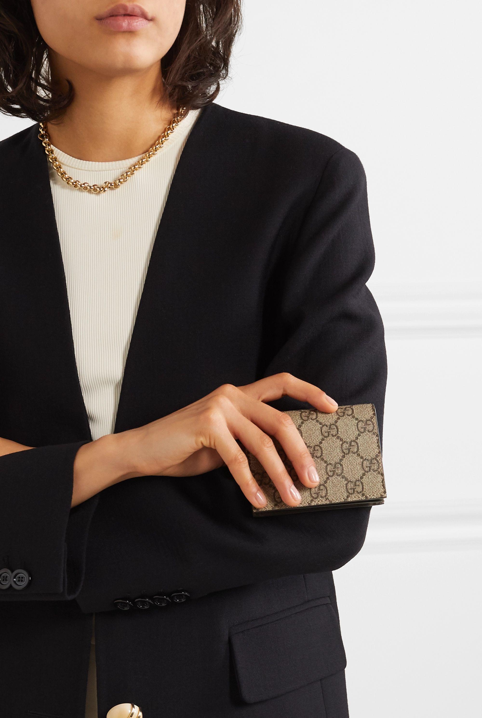 Gucci Bedrucktes Portemonnaie aus beschichtetem Canvas
