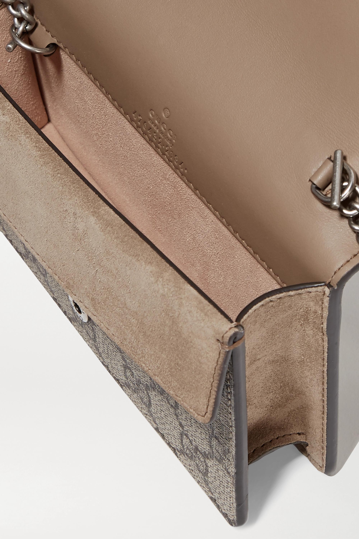 Gucci Dionysus super mini Schultertasche aus beschichtetem Canvas und Veloursleder mit Print