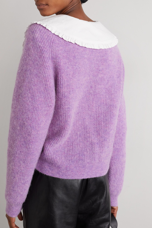 GANNI Ribbed-knit cardigan