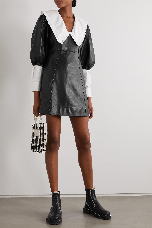 GANNI Minikleid aus Leder