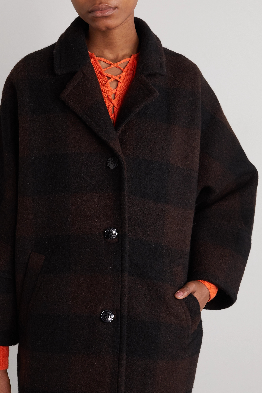 GANNI Manteau en laine mélangée à carreaux