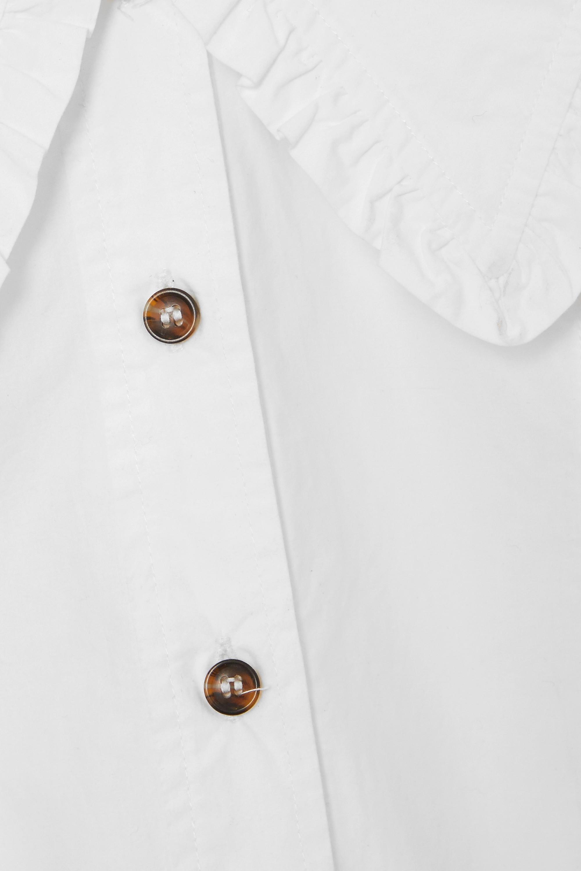 GANNI + NET SUSTAIN Hemd aus Biobaumwollpopeline mit Rüschen