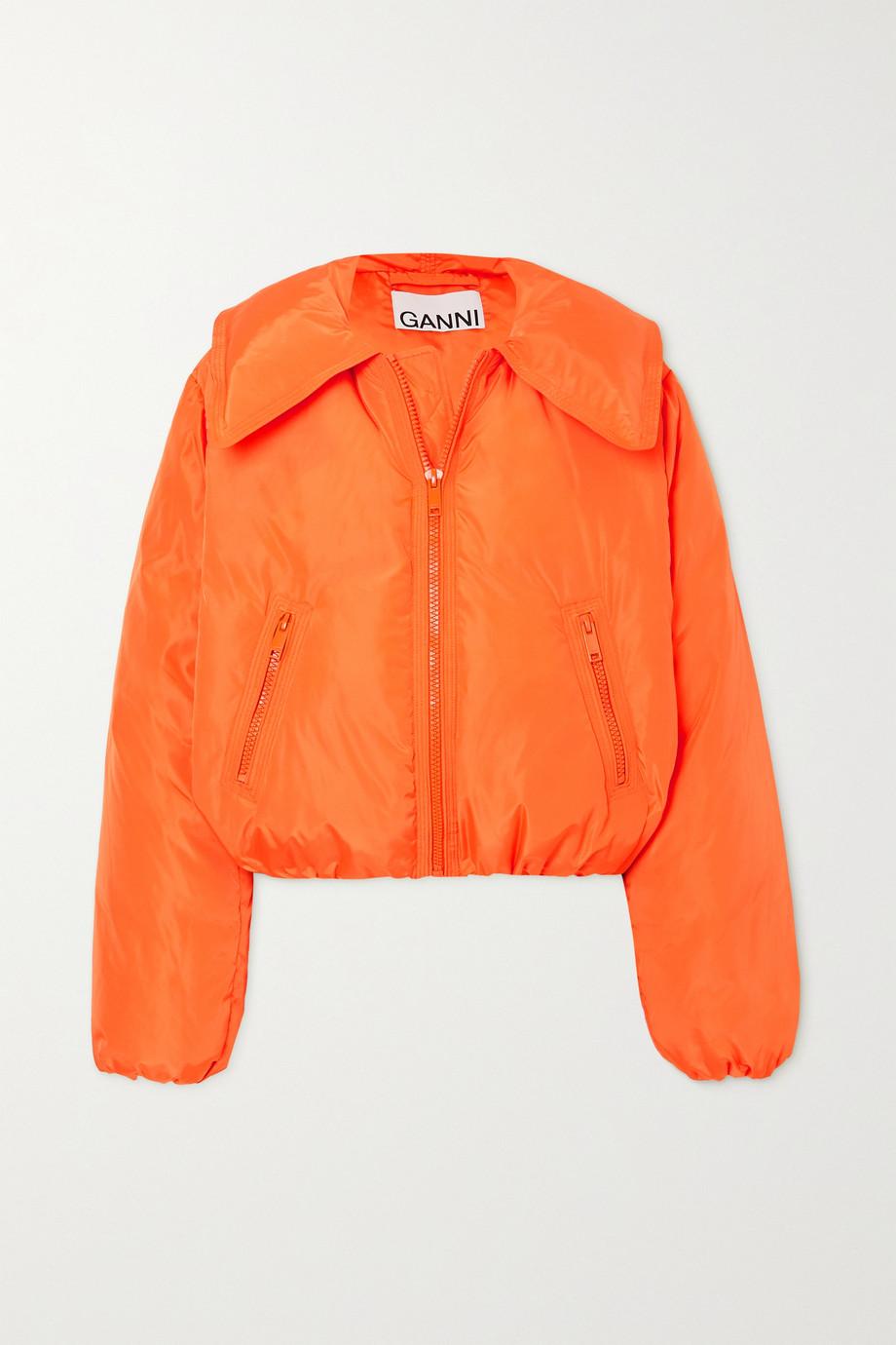 GANNI 绗缝软壳面料短款羽绒外套