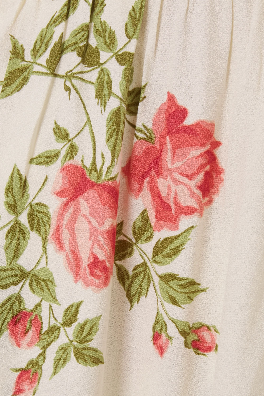Reformation Robe midi en crêpe à imprimé fleuri Brixton