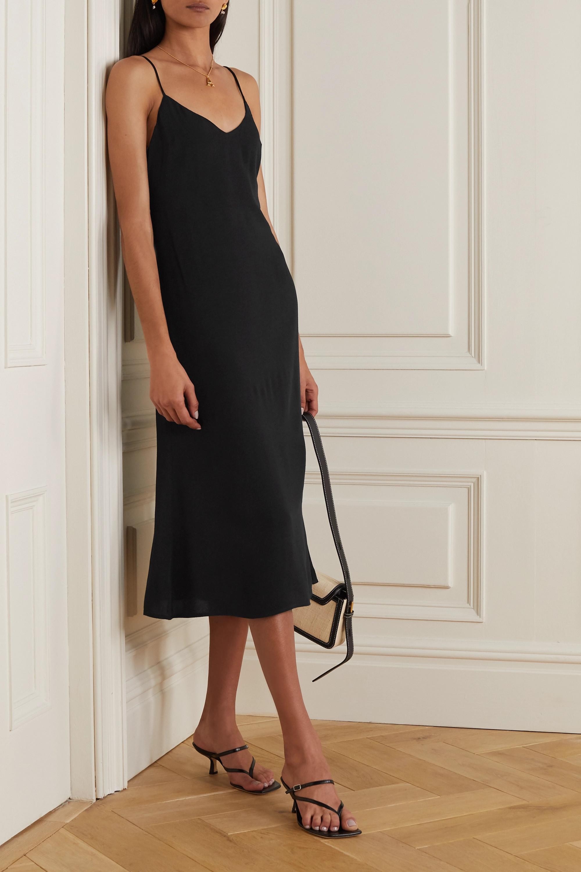 Reformation Chianti open-back tie-detailed crepe midi dress