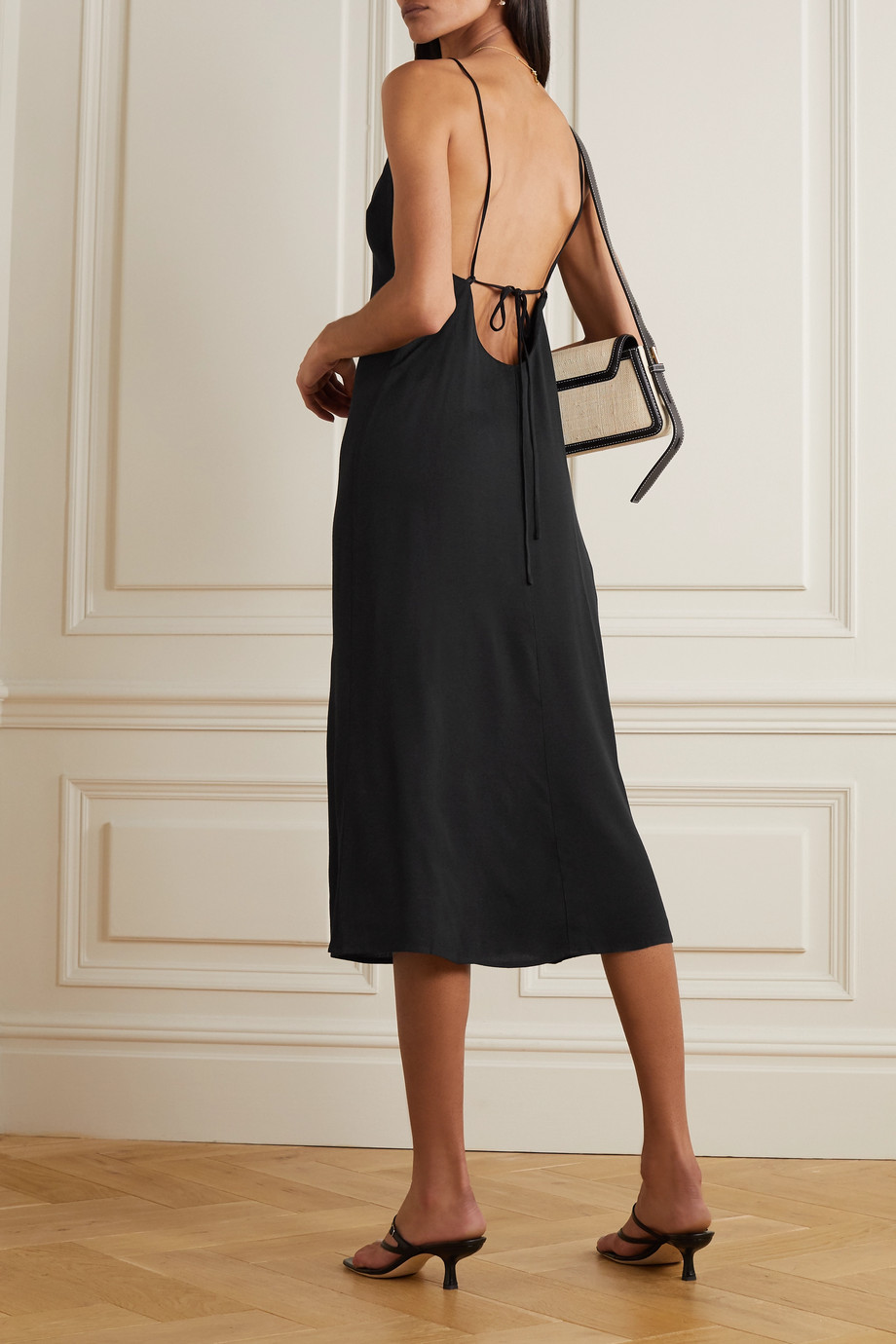 Reformation Chianti open-back tie-detailed crepe midi dress