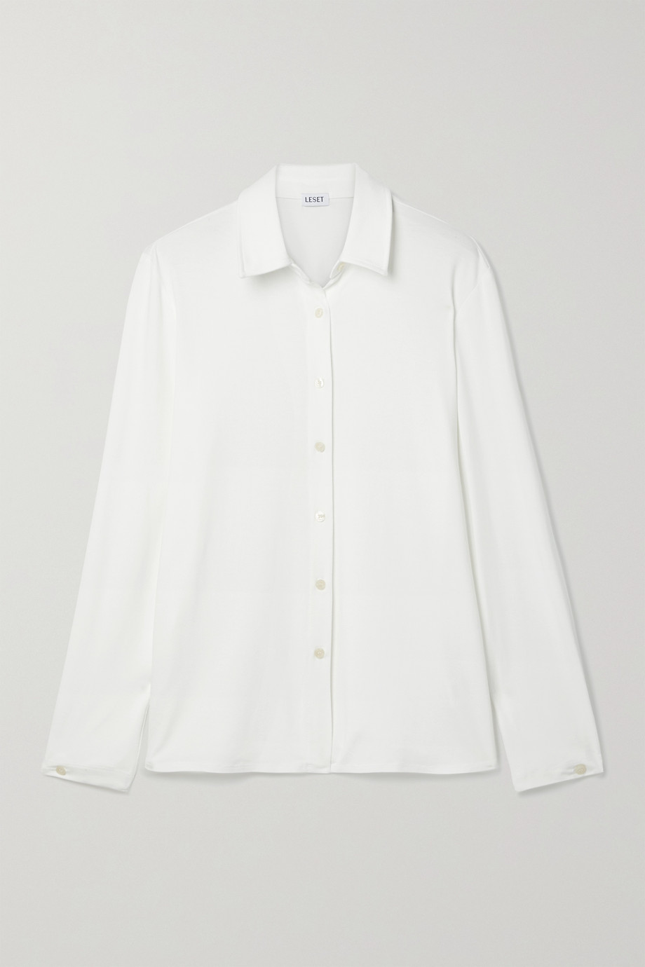 LESET Dylan stretch-jersey shirt
