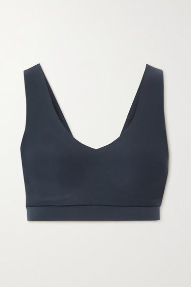 Chantelle - Soft Stretch 平纹布文胸式上衣 - 蓝色 - XL/XXL