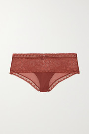 Chantelle Day to Night stretch-lace and tulle briefs