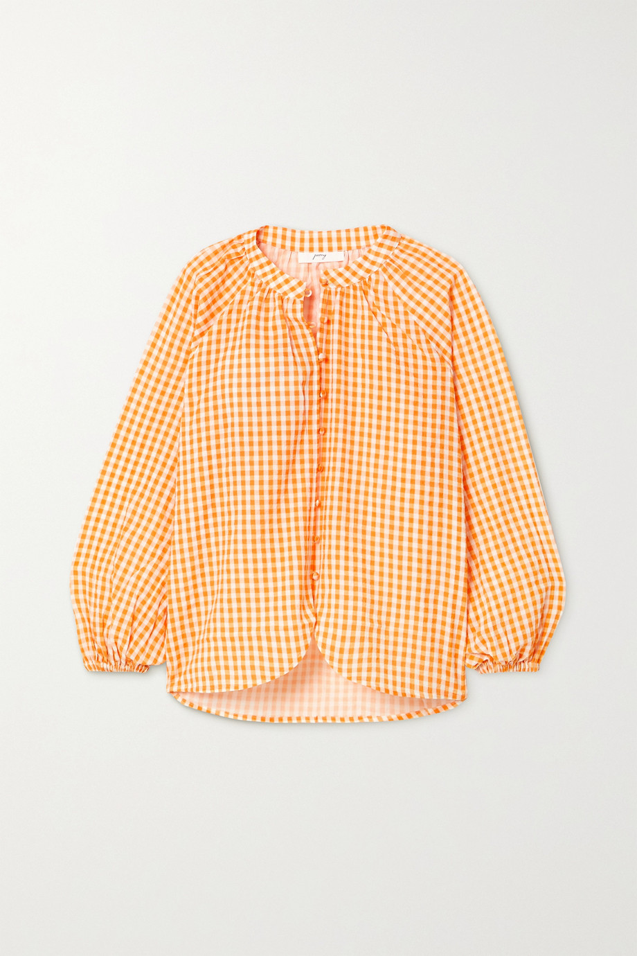 Peony + NET SUSTAIN gingham organic cotton and ECOVERO-blend blouse