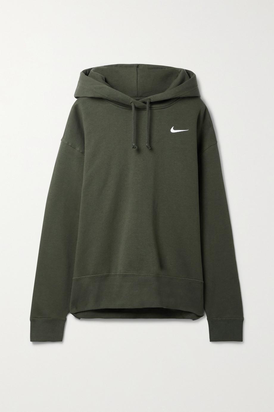 Nike Cotton-blend jersey hoodie
