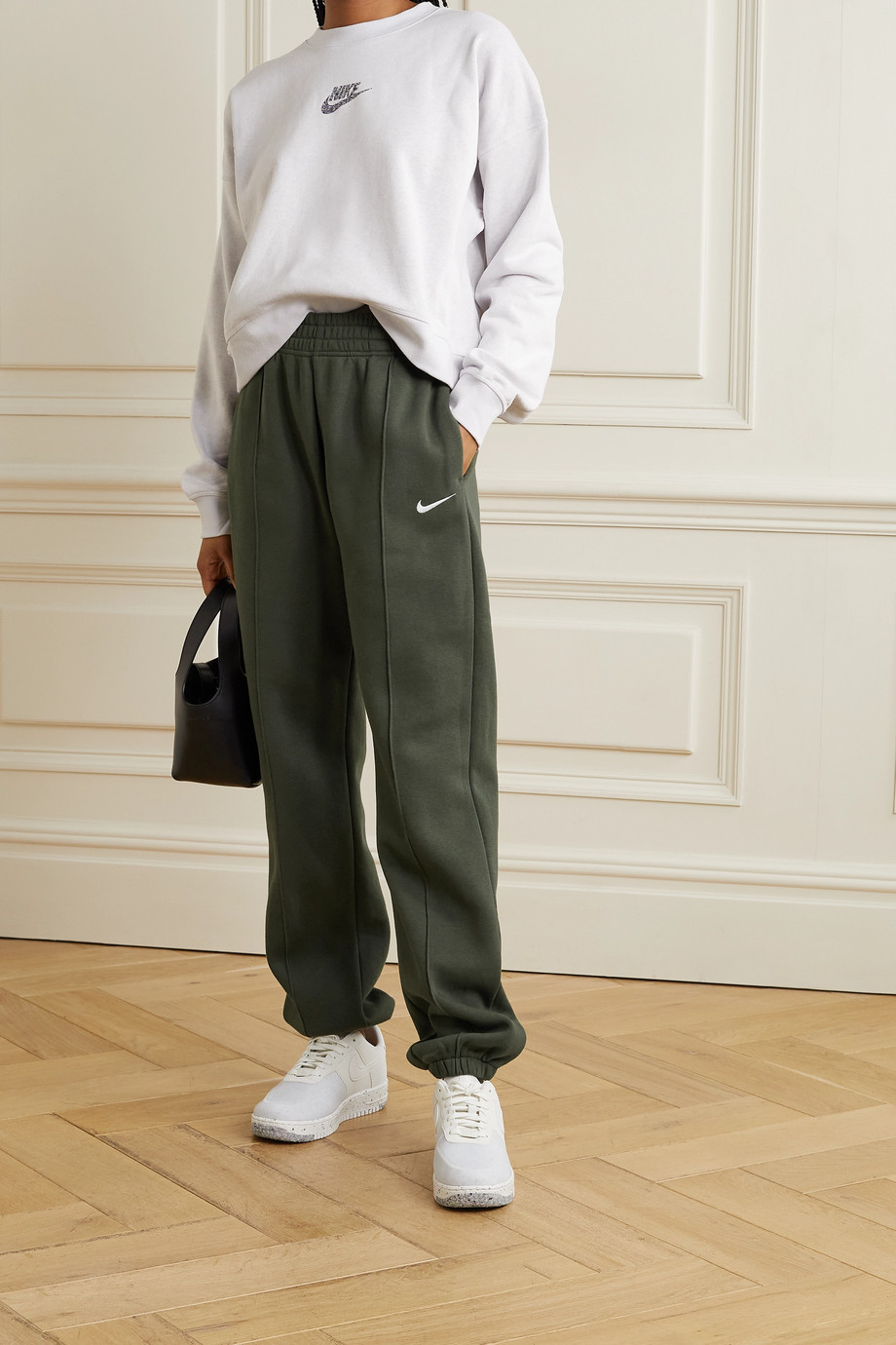 Nike Sportswear cotton-blend jersey track pants