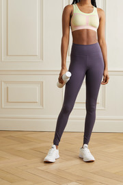 Nike FE/NOM striped Flyknit sports bra