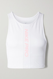 Nike Pro cropped mesh-trimmed Dri-FIT tank