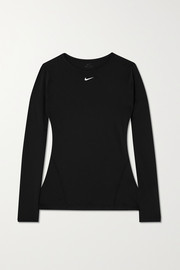 Nike Pro perforated stretch-mesh top