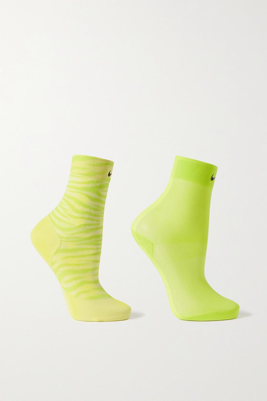 Nike Slub stretch-knit socks