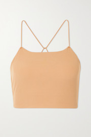 Nike Yoga Luxe cropped ribbed Infinalon Dri-FIT tank
