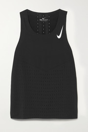 Nike AeroSwift perforated stretch-jersey tank